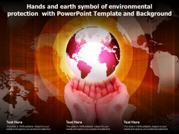 Hands And Earth Symbol Of Environmental Protection With Powerpoint Template And Background
