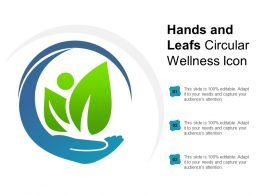 Hands And Leafs Circular Wellness Icon