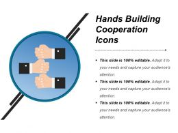Hands Building Cooperation Icons Ppt Samples Download