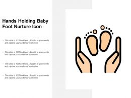 Hands Holding Baby Foot Nurture Icon