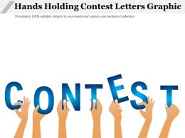 Hands Holding Contest Letters Graphic