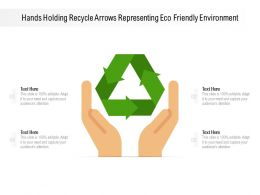 Hands Holding Recycle Arrows Representing Eco Friendly Environment