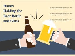Hands Holding The Beer Bottle And Glass
