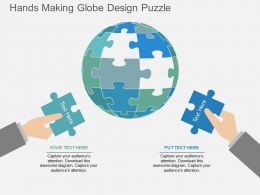 Hands Making Globe Design Puzzle Flat Powerpoint Desgin