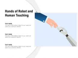 Hands Of Robot And Human Touching