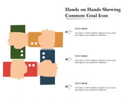 Hands On Hands Showing Common Goal Icon