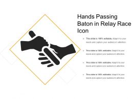 Hands Passing Baton In Relay Race Icon