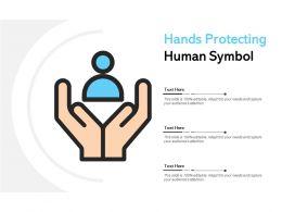 Hands Protecting Human Symbol