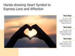 Hands Showing Heart Symbol To Express Love And Affection