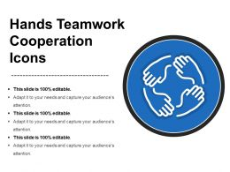 Hands Teamwork Cooperation Icons Ppt Sample Presentations