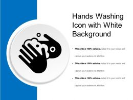 Hands Washing Icon With White Background