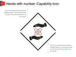 Hands With Nuclear Capability Icon Ppt Templates