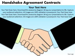 Handshake Agreement Contracts Powerpoint Slides And Ppt Templates DB