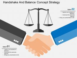 Handshake And Balance Concept Strategy Flat Powerpoint Design