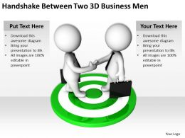 Handshake Between Two 3d Business Men Ppt Graphics Icons Powerpoint