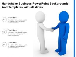 Handshake Business Powerpoint Backgrounds And Templates With All Slides