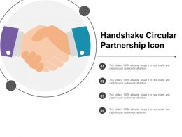 Handshake Circular Partnership Icon