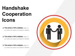Handshake Cooperation Icons Ppt Infographic Template