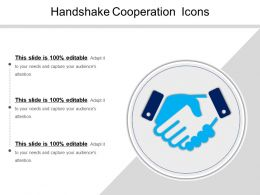Handshake Cooperation Icons Ppt Presentation