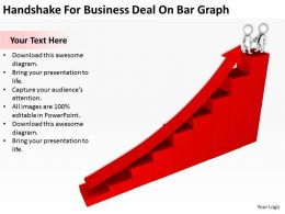 Handshake For Business Deal On Bar Graph Ppt Graphics Icons Powerpoint