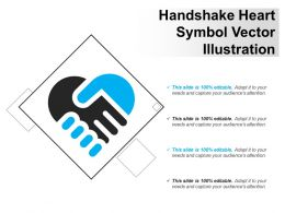 Handshake Heart Symbol Vector Illustration