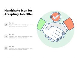 Handshake Icon For Accepting Job Offer