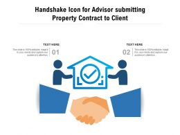 Handshake Icon For Advisor Submitting Property Contract To Client