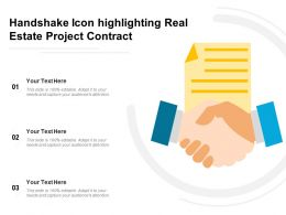 Handshake Icon Highlighting Real Estate Project Contract