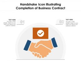 Handshake Icon Illustrating Completion Of Business Contract