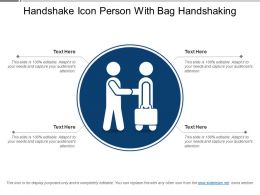 Handshake Icon Person With Bag Handshaking
