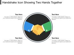 Handshake Icon Showing Two Hands Together