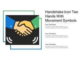 Handshake Icon Two Hands With Movement Symbols