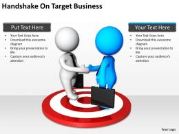 Handshake On Target Business Ppt Graphics Icons PowerPoint