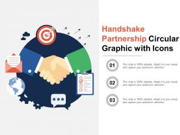 Handshake Partnership Circular Graphic With Icons