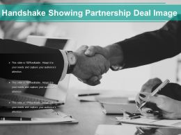 Handshake Showing Partnership Deal Image