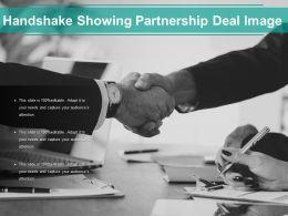 Handshake Showing Partnership Deal Image