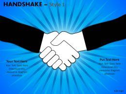 Handshake Style 1 Powerpoint Slides