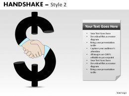 Handshake Style 2 Powerpoint Slides