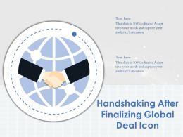 Handshaking After Finalizing Global Deal Icon