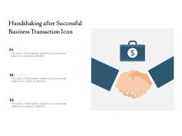 Handshaking After Successful Business Transaction Icon
