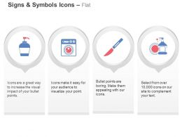 Handwash Washing Machine Scalpel Sanitizer Ppt Icons Graphics