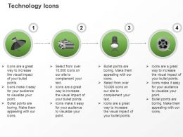 Handy Cam Video Reel Camera Light Ppt Icons Graphics