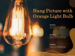 Hang Picture With Orange Light Bulb