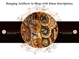 Hanging Artifacts In Shop With Islam Inscriptions