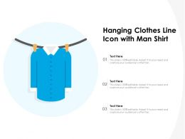 Hanging Clothes Line Icon With Man Shirt