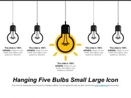 Hanging Five Bulbs Small Large Icon