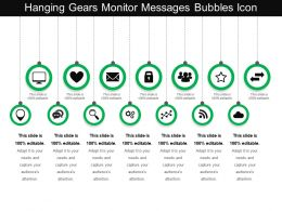 Hanging Gears Monitor Messages Bubbles Icon