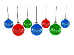 Hanging Multicolored Decorative Balls Stock Photo