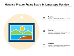 Hanging Picture Frame Board In Landscape Position