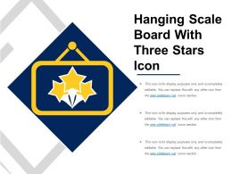 Hanging Scale Board With Three Stars Icon